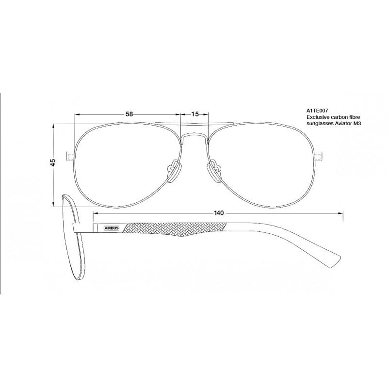 42f0c0bd6e Gafas de sol en fibra de carbono Aviador M3 - Let's shop Airbus