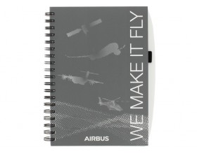 "Carnet spirale 19x25 ""we make it fly"""