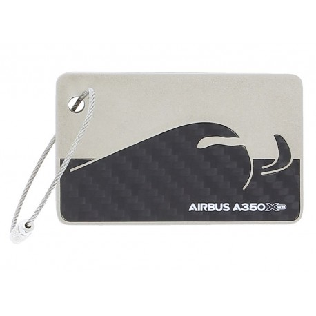 A350 XWB carbon fibre luggage tag