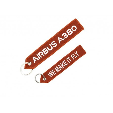 """A380 Airbus """"We Make It Fly"""" key ring"""
