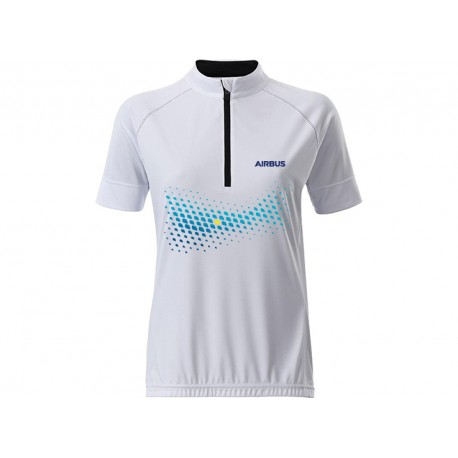 Camiseta de ciclismo Airbus para mujer