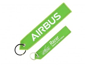 "Airbus ""Remove before flight"" RACER keyring"