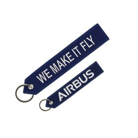 "Porte clés bleu Airbus ""We make it fly"""