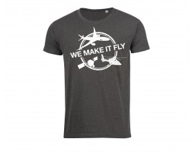 "T shirt Airbus gris "" We Make It Fly"""