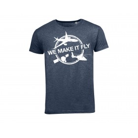 "T shirt Airbus bleu "" We Make It Fly"""