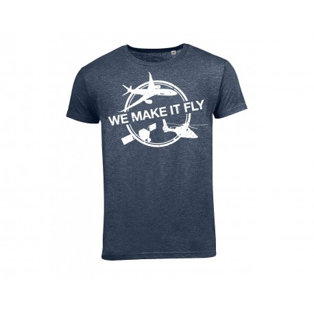 """Airbus """"We Make It Fly"""" blau T shirt"""