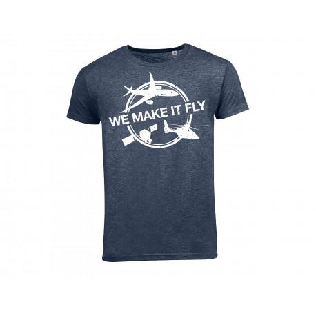 """T shirt Airbus bleu """" We Make It Fly"""""""