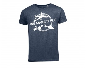 "Airbus ""We Make It Fly"" blau T shirt"