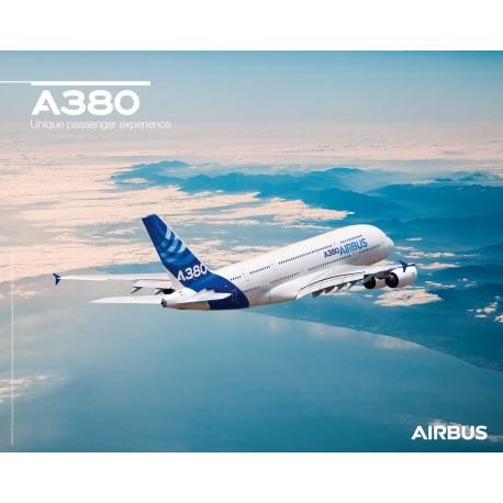 Póster A380 vista de vuelo