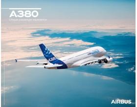 Poster A380 vue en vol