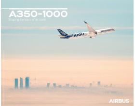 Póster A350-1000 vista de vuelo