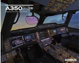 Poster A350XWB vue du cockpit