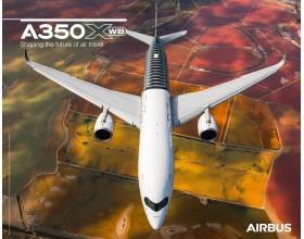 Póster A350XWB vista frontal