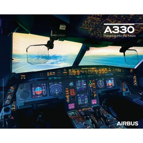 Poster A330neo Cockpitansicht