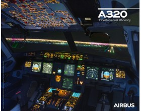 A320neo poster cockpit view