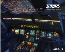 Poster A320neo vue du cockpit