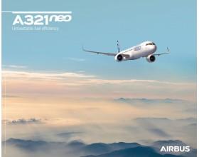 Póster A321neo vista del cielo