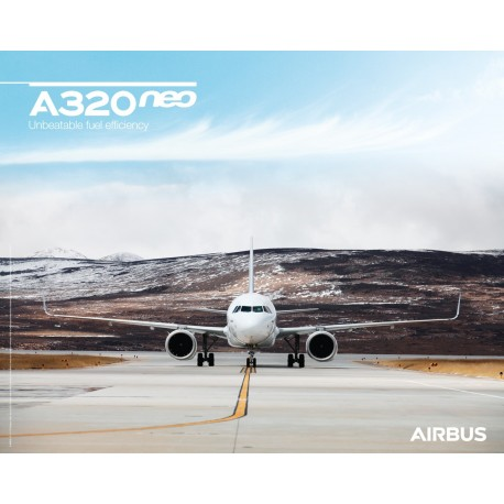 A320neo poster front view