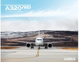Póster A320neo vista frontal