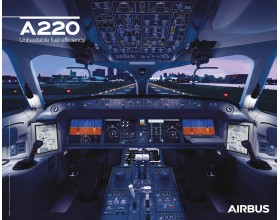 A220 poster cockpit view