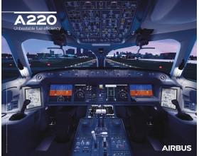 Poster A220 Cockpitansicht