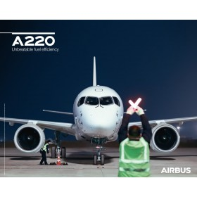 A220 poster front view