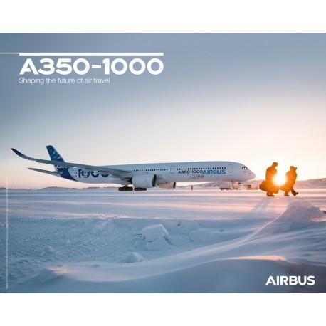 Poster A350-1000 vue au sol