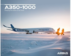 Póster A350-1000 vista al suelo