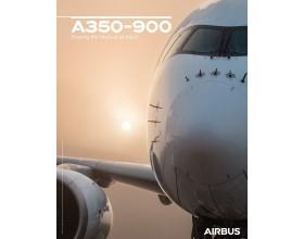 Poster A350-900 Vorderansicht