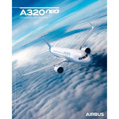 Poster A220 vue du ciel