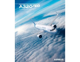 A320neo poster sky view