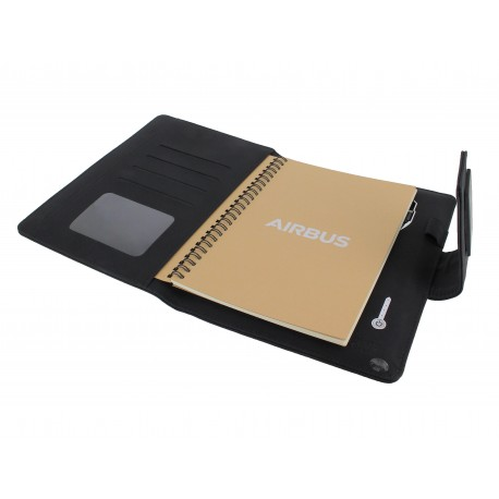 Executive led A5 conference pad with powerbank