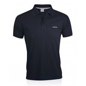 Blaues Polohemd aus Bio-Baumwolle für Männer