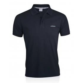 Men's blue organic cotton polo shirt