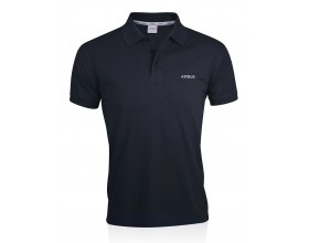 Men's blue organic cotton polo shirt