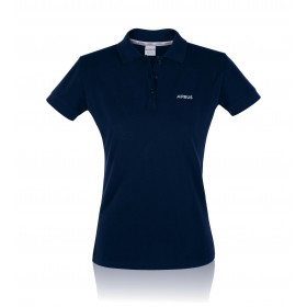 Women's Blue organic cotton Executive Polo Shirt