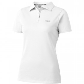 Womens white organic cotton polo shirt