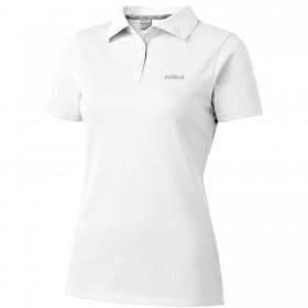 Womens white organic cotton polo shirt