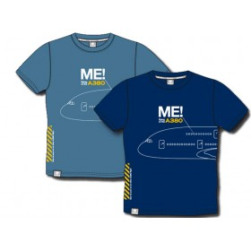 """Me in the A380"" Dunkelblaue Farbe Herren Rundhals T-Shirt"