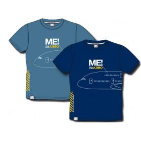 "Tee shirt ""me in the A380"" bleu foncé"