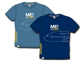"Tee shirt ""Me in the A380"" bleu clair"