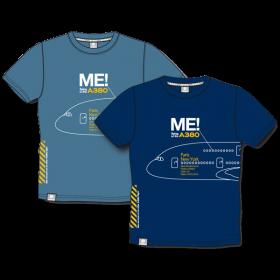 """Me in the A380"" lightblue Tee shirt"