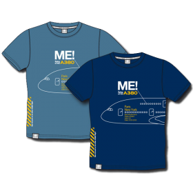 """Tee shirt """"Me in the A380"""" bleu clair"""