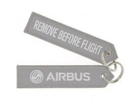 Grey key ring remove before flight 130 x 20 mm