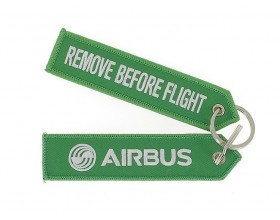 Green key ring remove bevore flight 130 x 30 mm