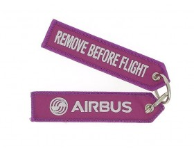 Fushia key ring remove before flight 130 x 30 mm