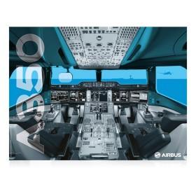 Póster de la carlinga del A350 XWB