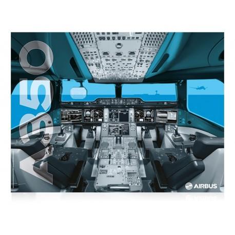 A350 XWB cockpit poster