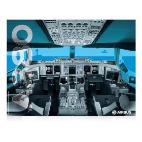 A380 cockpit poster
