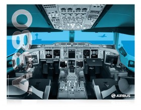A380 cockpit poster 2016